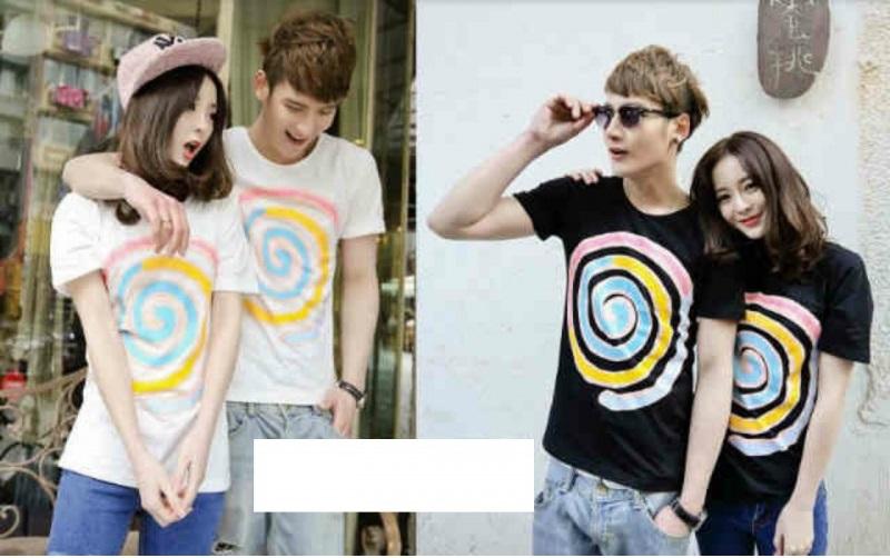 Jual Kaos Candy Pop Couple Online Murah di Jakarta Lengan Pendek Trendy