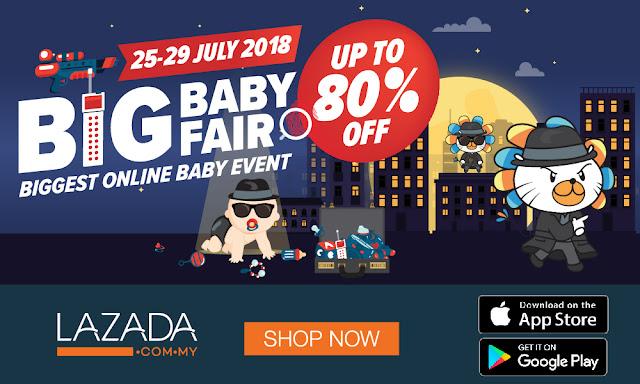 Beli dan menang di Lazada Big Baby Fair Julai 2018