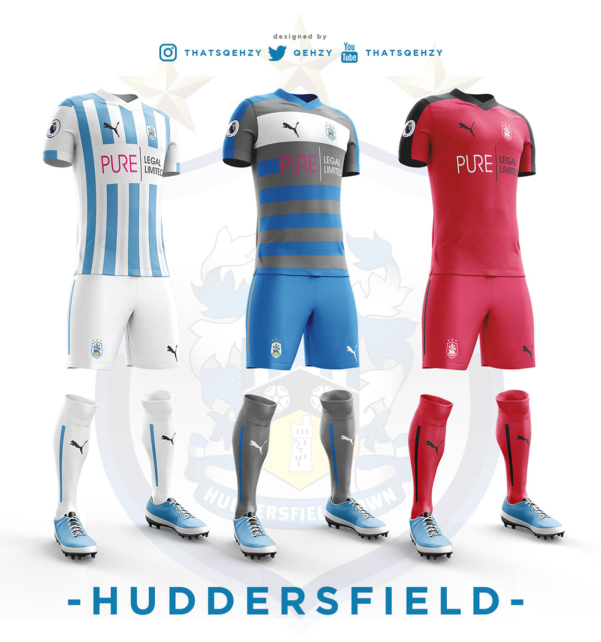 Manchester United 3 1 Huddersfield Result: 2017-18 Premier League Concept Kits