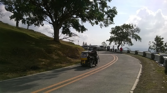 Tricycle along Tagaytay road