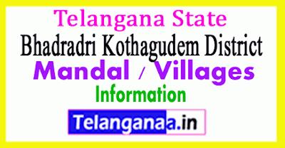 Bhadradri Kothagudem District Revenue Division Mandals in Telangana