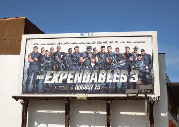 Expendables 3 film billboard