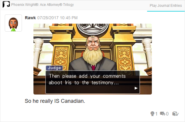Phoenix Wright Ace Attorney Trials and Tribulations Canadian Judge aboot