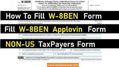 How to Fill Applovin Payment Form | Applovin W-8 BEN Payment Form