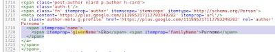 Contoh penerapan script name pada template blogger