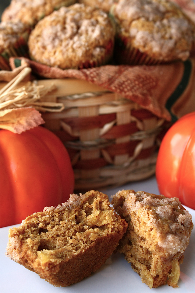 Pumpkin Apple Streudel Muffins: Butter With a Side of Bread