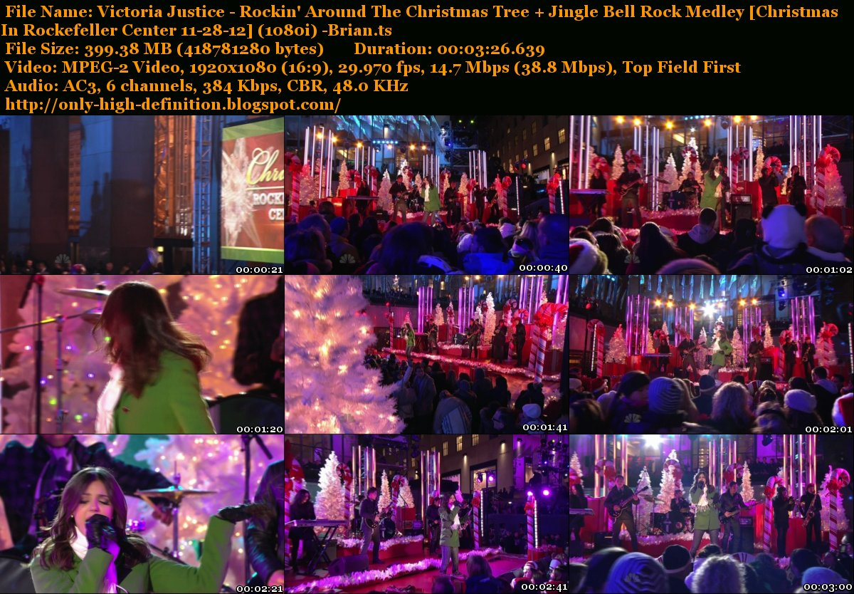 Only High Definition: Victoria Justice - Rockin' Around The Christmas Tree + Jingle Bell Rock ...