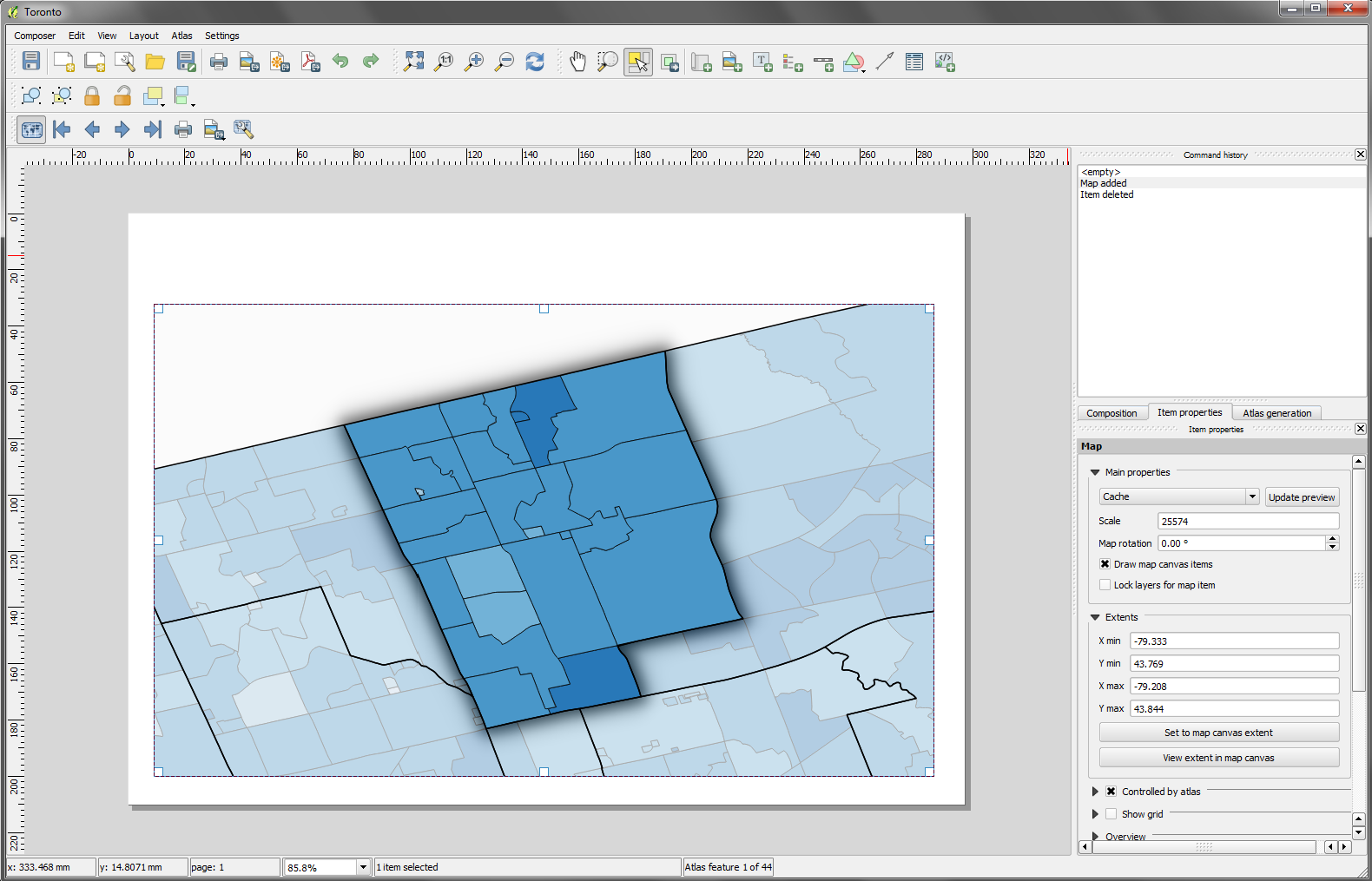 under the raedar: Automatic map production with QGIS