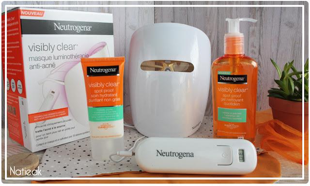 soins anti-acné Visibly clear et masque luminothérapie