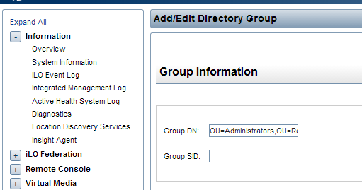 How to Configure HP ILO 4 for Active Directory Login