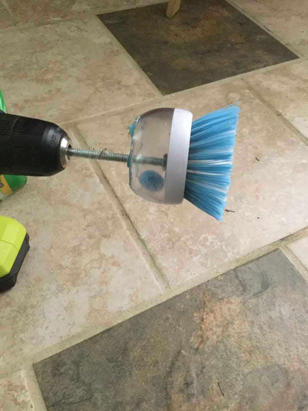Grout Cleaning Tool Counter Style Spinner Tile
