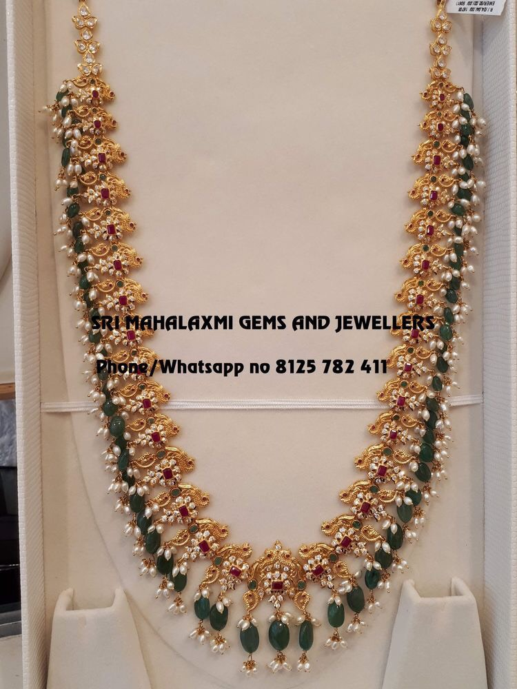 10bb6792e8c6f Grand Look Light Weight Long Haram - Jewellery Designs