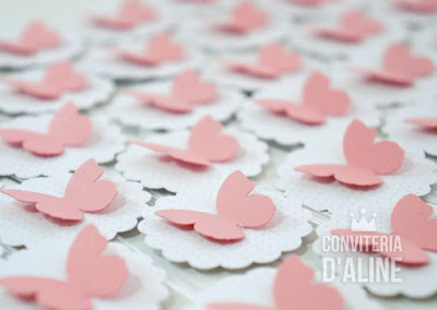 topper festa borboletas rosa