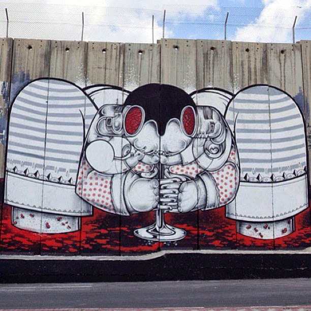 Street Art Duo How Nosm In Palestine Where They Painted Several New Pieces. 5