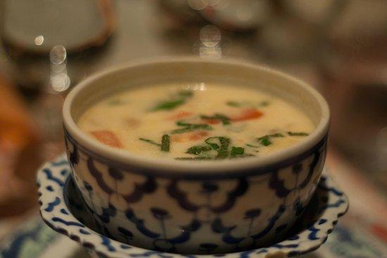 cucina thai  zuppa di cocco