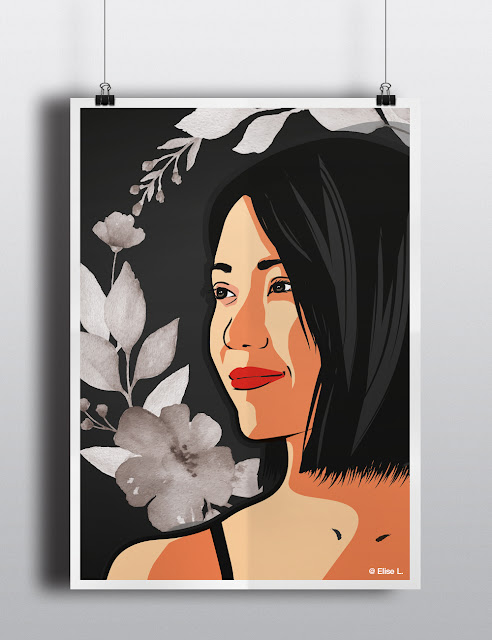 graphic portrait illustration