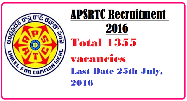 Apsrtc Recruitment 2016| Andhra Pradesh State Road Transport Corporation against APSRTC Recruitment 2016./2016/07/apsrtc-recruitment-2016.html