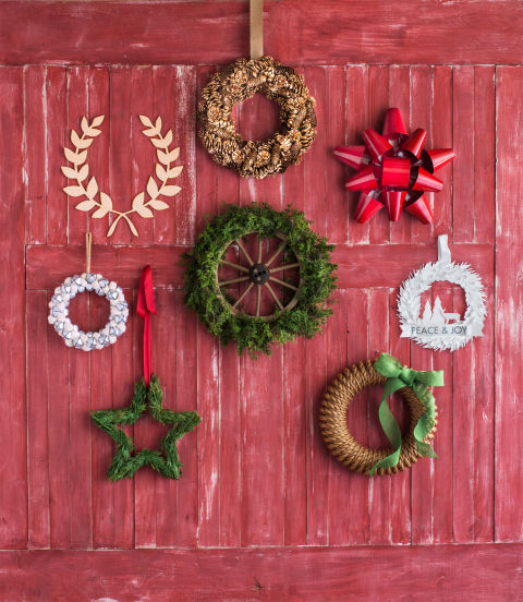 handmade wreaths from Country Living Magazine
