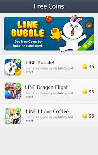 Koin LINE gratis