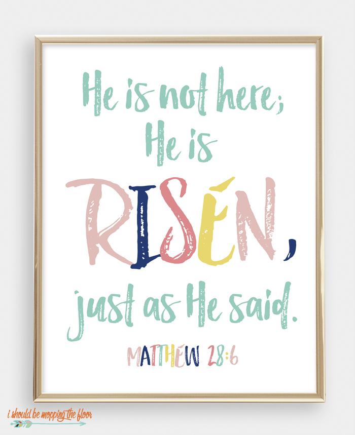 Matthew 28:6 Printable