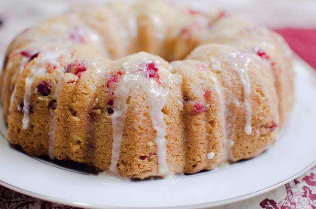 Lemon Cranberry Bundt Cake Recipe