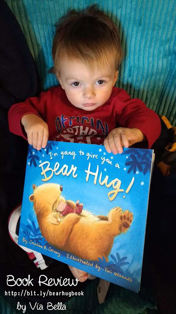 I'm Going to Give You a Bear Hug!, book review, via bella, zonderkidz, zondervan, caroline cooney, booklook bloggers