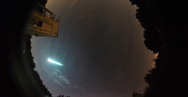 A meteor lit up the Alabama sky on Aug. 17. (NASA)