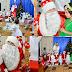Cu desaga în spinare, Moș Crăciun a ajuns la grădinița din Costiceni (27 decembrie 2017)