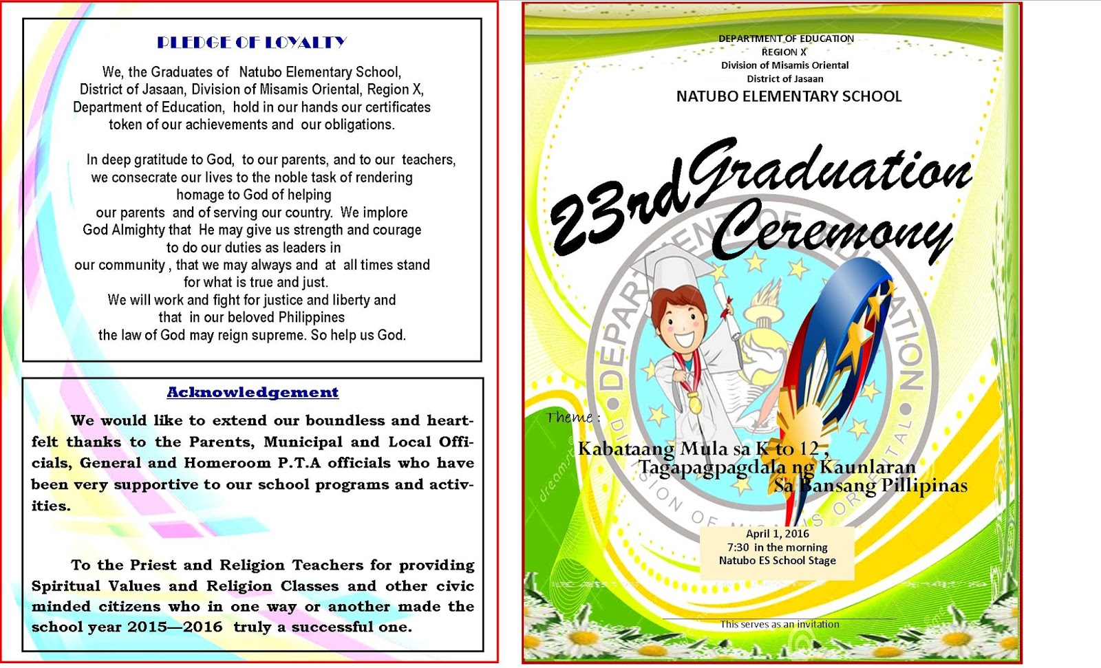 2015 2016 graduation program new template deped lps 2015 2016 graduation program new template yadclub Image collections