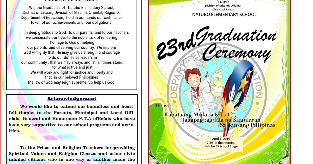 2015-2016 Graduation Program New Template - DepEd LP\u0027s - graduation program template pdf