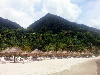 Sugar Beach  |  Postcard from St. Lucia on *sparklingly