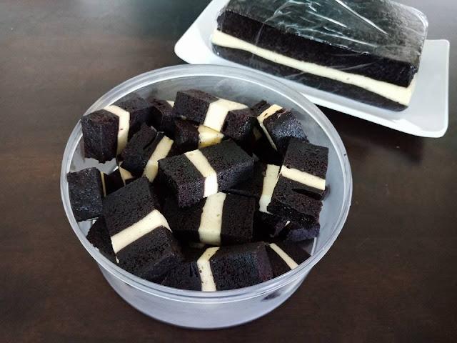 Kek Kukus Coklat Cheese sangat lembut