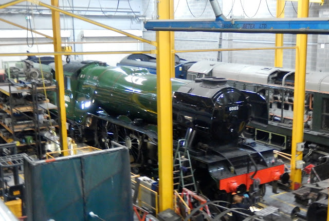The-Flying-Scotsman-in-The-Works-at-the-National-Rail-Museum