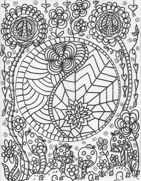 Abstract Doodle Zentangle Coloring Pages Colouring Adult Detailed Advanced  Printable Kleuren Voor Volwassenen Coloriage Pour Adulte