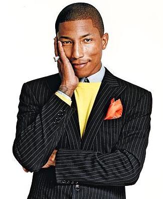 Foto de Pharrell Williams posando para fans