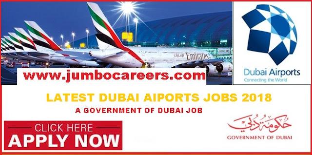 Dubai Government jobs descriptions, Dubai international Airport jobs benefits and salary,