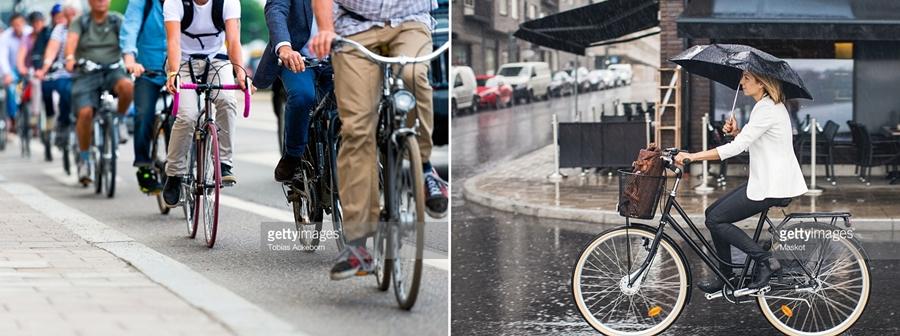 oameni pe biciclete