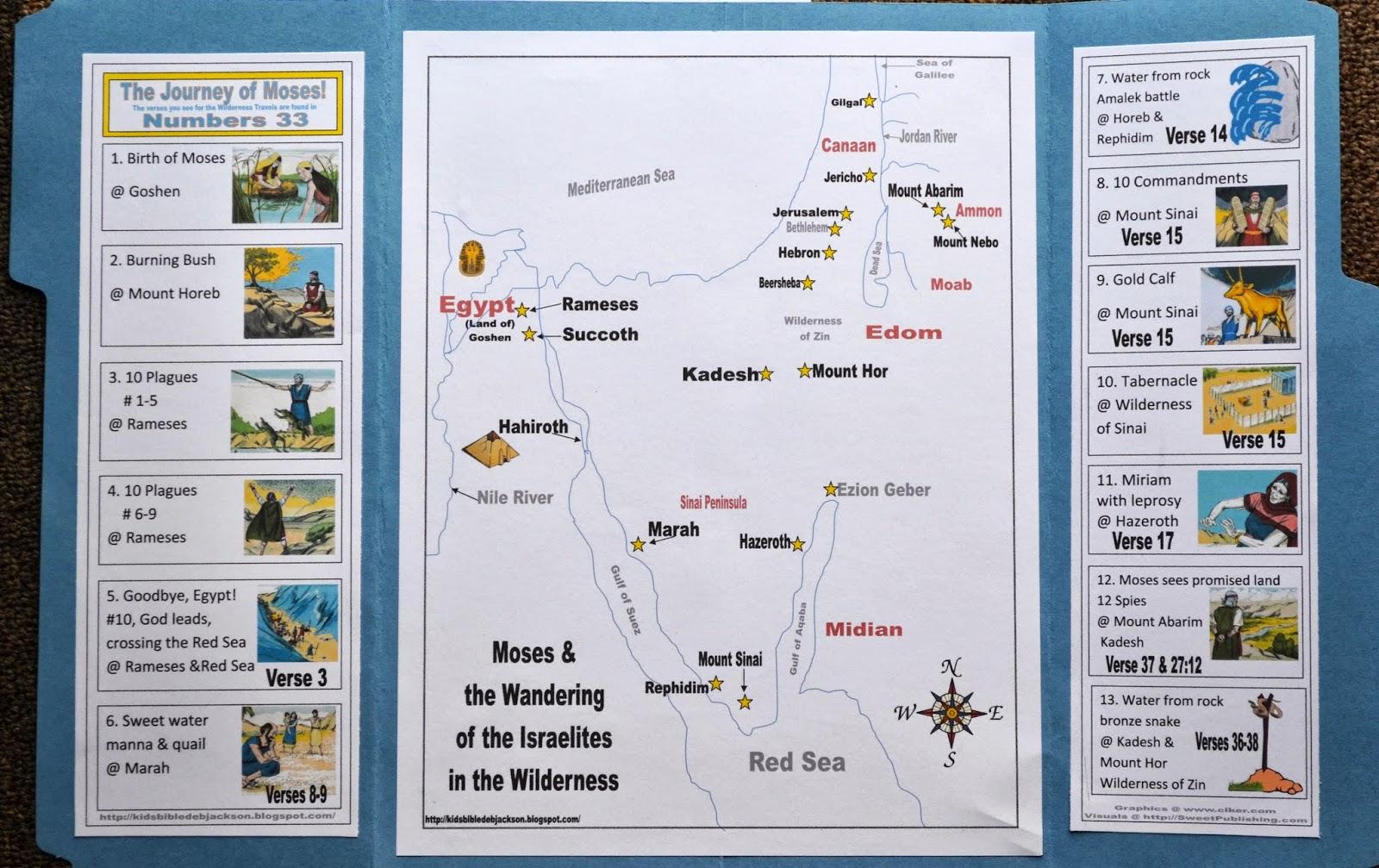 Story Moses Map Worksheet