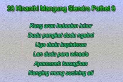 13 Tembang Kinanthi dalam Bahasa Jawa Secara Lengkap
