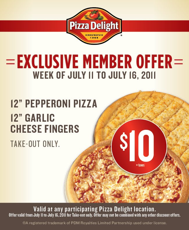 pizza delight online coupons