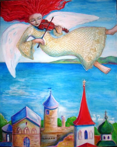 #AideLL #Aide #Leit #ingel #angel #punane viiul #red #violin #hair #haapsalu #castle #painting #art #lace
