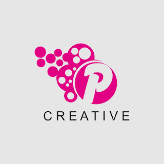 Letter P Pink Bubble Logo Template Free Download Vector CDR, AI, EPS and PNG Formats