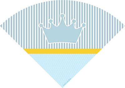 Conos= Cucuruchos para Imprimir Gratis de Corona Celeste.