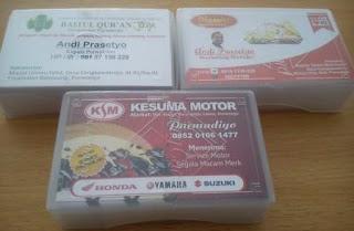 Jasa pembuatan desain dan juga cetak kartu nama, id card dan company profile berkualitas paling murah di purworejo
