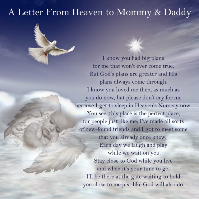 A letter from heaven for Mommy & Daddy Jewels Art Creation
