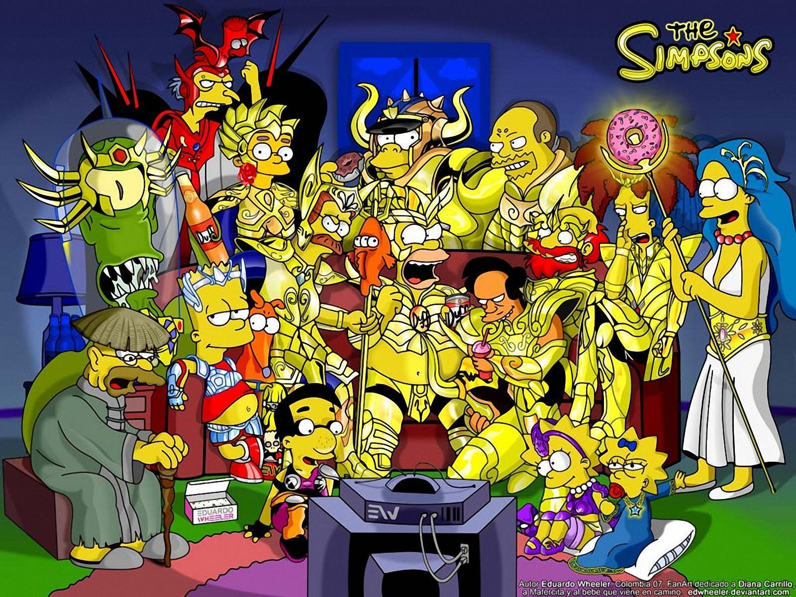 Cool Fall Desktop Wallpaper Wallpaper Db Simpsons Wallpaper