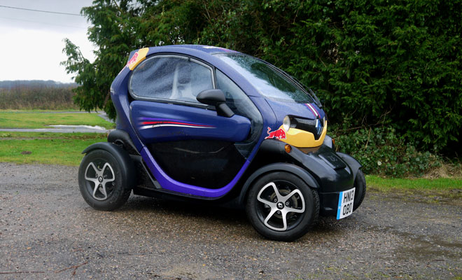 Renault Twizy in the rain