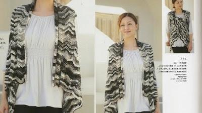 Capa-Chal-Chaleco crochet asimetrico patron