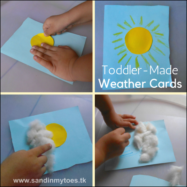 Weather card making activity for toddlers and precshoolers.