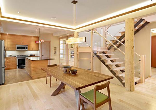 Ruang Tamu Dengan Sentuhan Desain Kayu Rancangan Rumah Minimalis